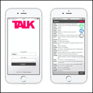 TALK iOS screens